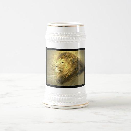 Lion Pride Beer Stein 18 Oz Beer Stein