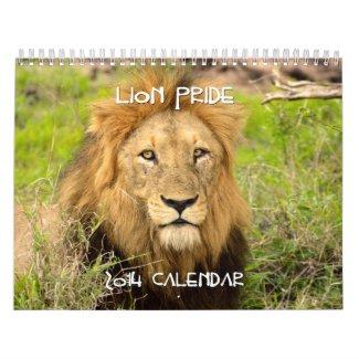 Lion Pride Custom 2014 Calendar