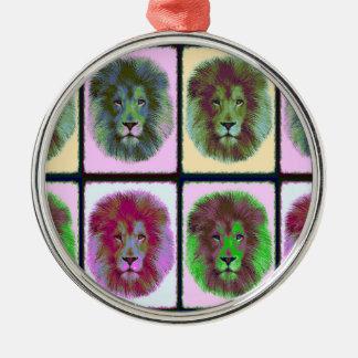 Lion Pride Pop Art Metal Ornament