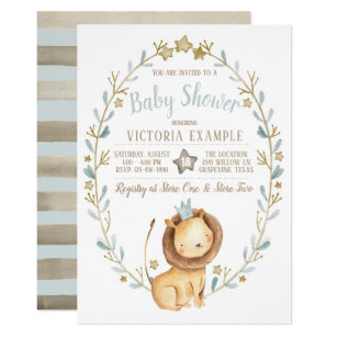Lion Invitations Announcements Zazzle