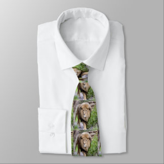 Lion Print Men's Necktie