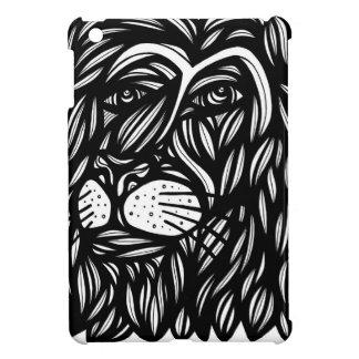 Lion Profile Black and White iPad Mini Cover