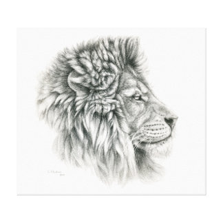Lion Profiles by Svetlana Ledneva-Schukina G044 Canvas Print