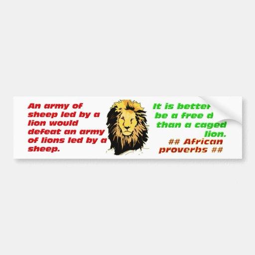 Lion Proverbs Series Car Bumper Sticker