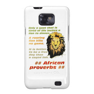 Lion Proverbs Series Galaxy S2 Covers
