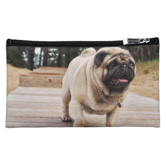 Lion Pug On The Stairs Medium Cosmetic Bag