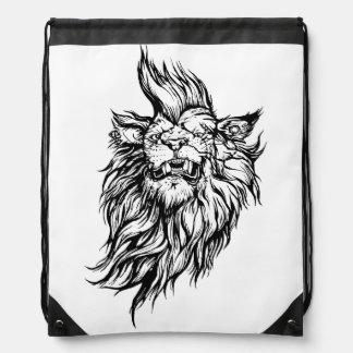 Lion-punk Drawstring Backpack