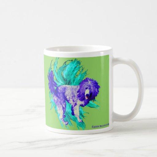 lion puppy classic white coffee mug