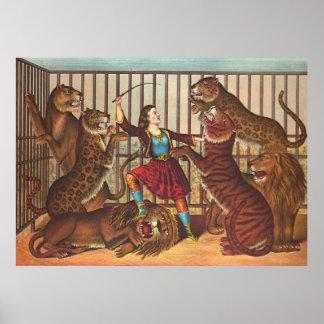 Lion Queen 1874 Poster