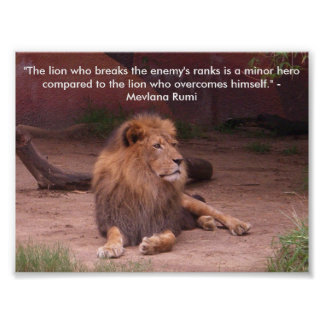 Lion - Quote Poster