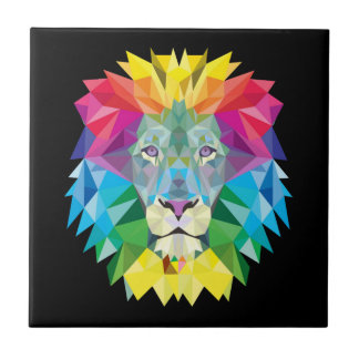 Lion Rainbow Tile