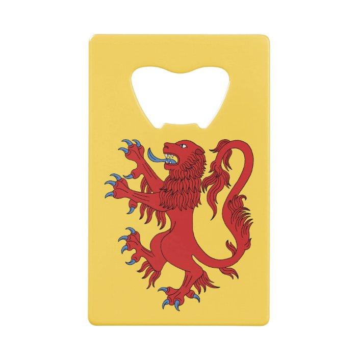 Rampant Lion Metal Card Holder Pocket Size Ideal Scottish Present