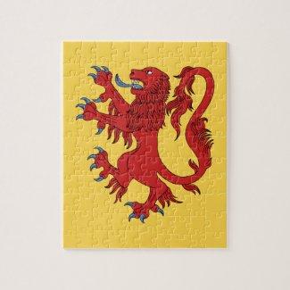 Lion Rampant Gules Jigsaw Puzzle