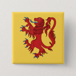Lion Rampant Gules Pinback Button