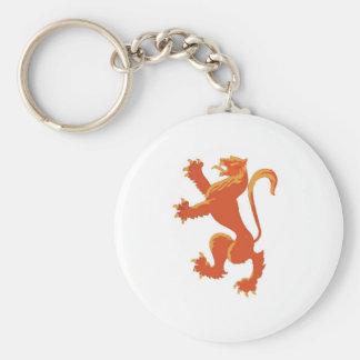 Lion Rampant Keychain