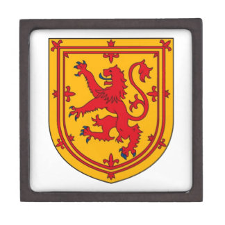 Lion Rampant on Gold Gift Box