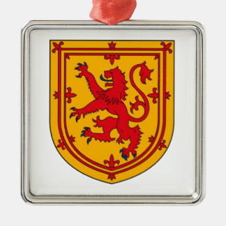 Lion Rampant on Gold Metal Ornament