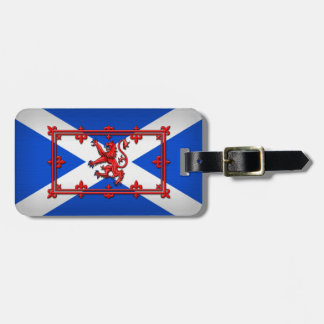 Lion Rampant On Scottish Flag Bag Tag