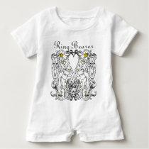 Lion Rampant Renaissance Wedding Baby Romper