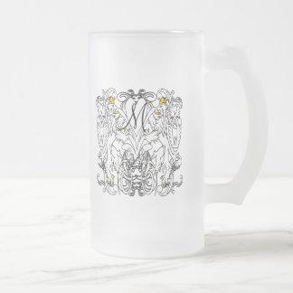 Lion Rampant Renaissance Wedding Frosted Glass Beer Mug