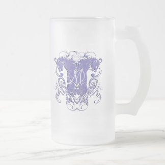 Lion Rampant Renaissance Wedding Frosted Glass Beer Mug