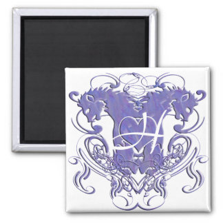 Lion Rampant Renaissance Wedding Magnet