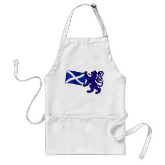 Lion Rampant & Saltire Flag Scottish Design Adult Apron