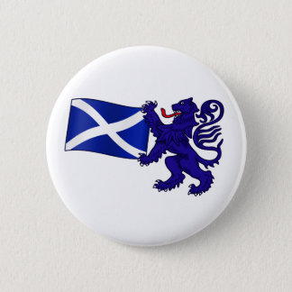 Lion Rampant & Saltire Flag Scottish Design Button