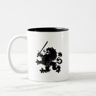 Lion Rampant with Sword Heraldry Mug