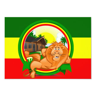 Lion rasta card