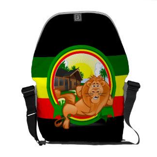 Lion rasta courier bag