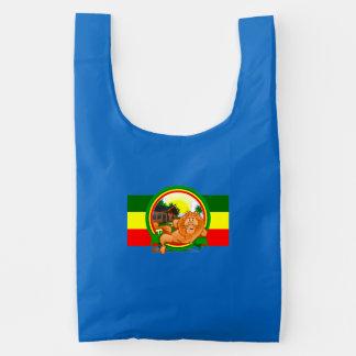 Lion rasta reusable bag