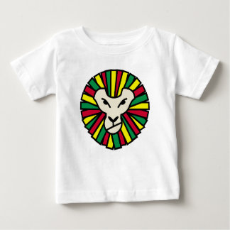 Lion Rastafari Coloured Mane Baby T-Shirt