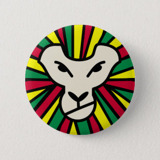Lion Rastafari Coloured Mane Button
