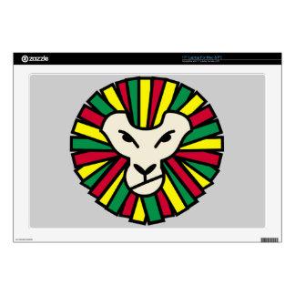 "Lion Rastafari Coloured Mane Decal For 17"" Laptop"