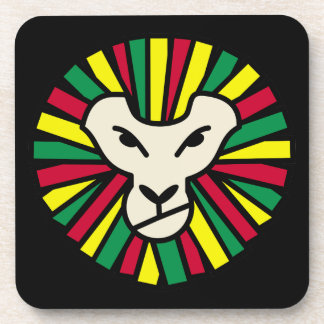 Lion Rastafari Coloured Mane Drink Coaster