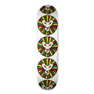 Lion Rastafari Coloured Mane Skate Board Deck