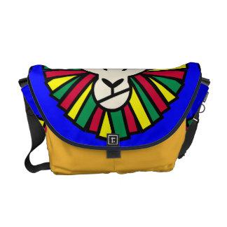 Lion Rastafarian Flag Courier Bag