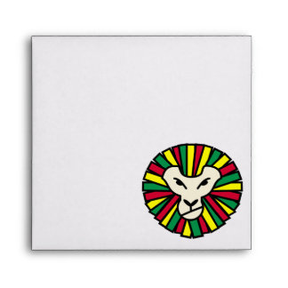 Lion Rastafarian Flag Envelope