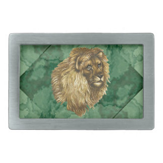 Lion Rectangular Belt Buckle