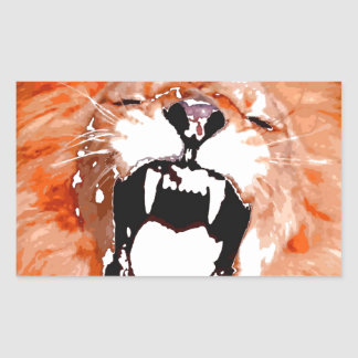 Lion Rectangular Sticker