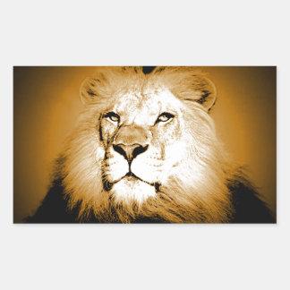 Lion Rectangular Sticker