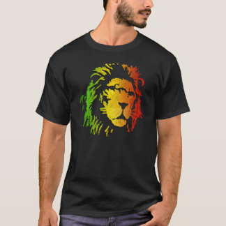 Lion Reggae Lion of Zion Rasta T-Shirt