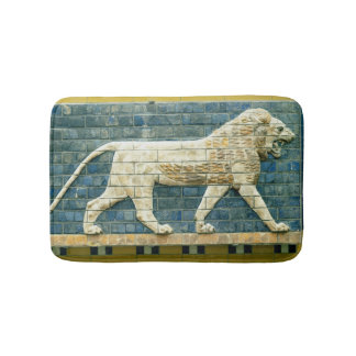 Lion representing Ishtar Bathroom Mat