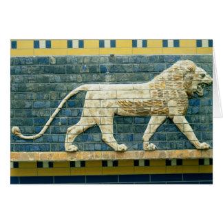 Lion representing Ishtar Card