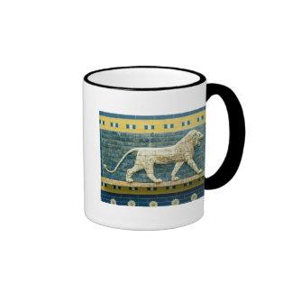 Lion representing Ishtar Coffee Mugs