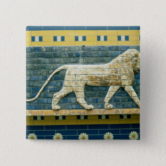 Lion representing Ishtar Pinback Button