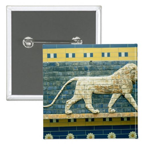 Lion representing Ishtar Pinback Buttons