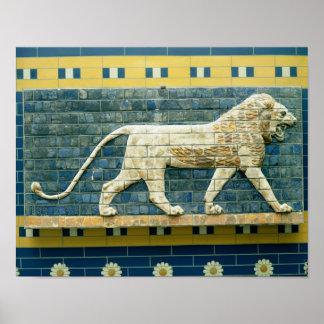 Lion representing Ishtar Poster