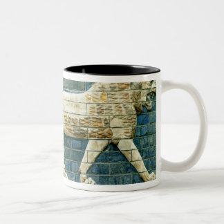 Lion representing Ishtar Two-Tone Coffee Mug